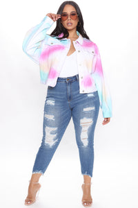 Visions In Color Denim Jacket - Multi Color Angle 6