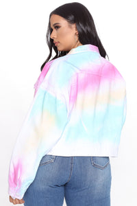 Visions In Color Denim Jacket - Multi Color Angle 7