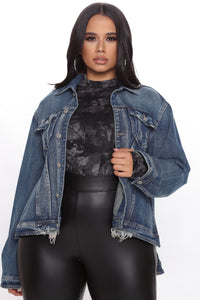 That Vintage Feel Denim Jacket - Denim Angle 1