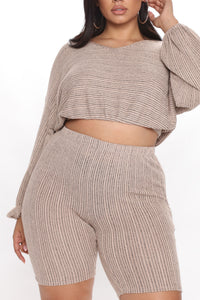 Best Of All Biker Short Set - Taupe Angle 5