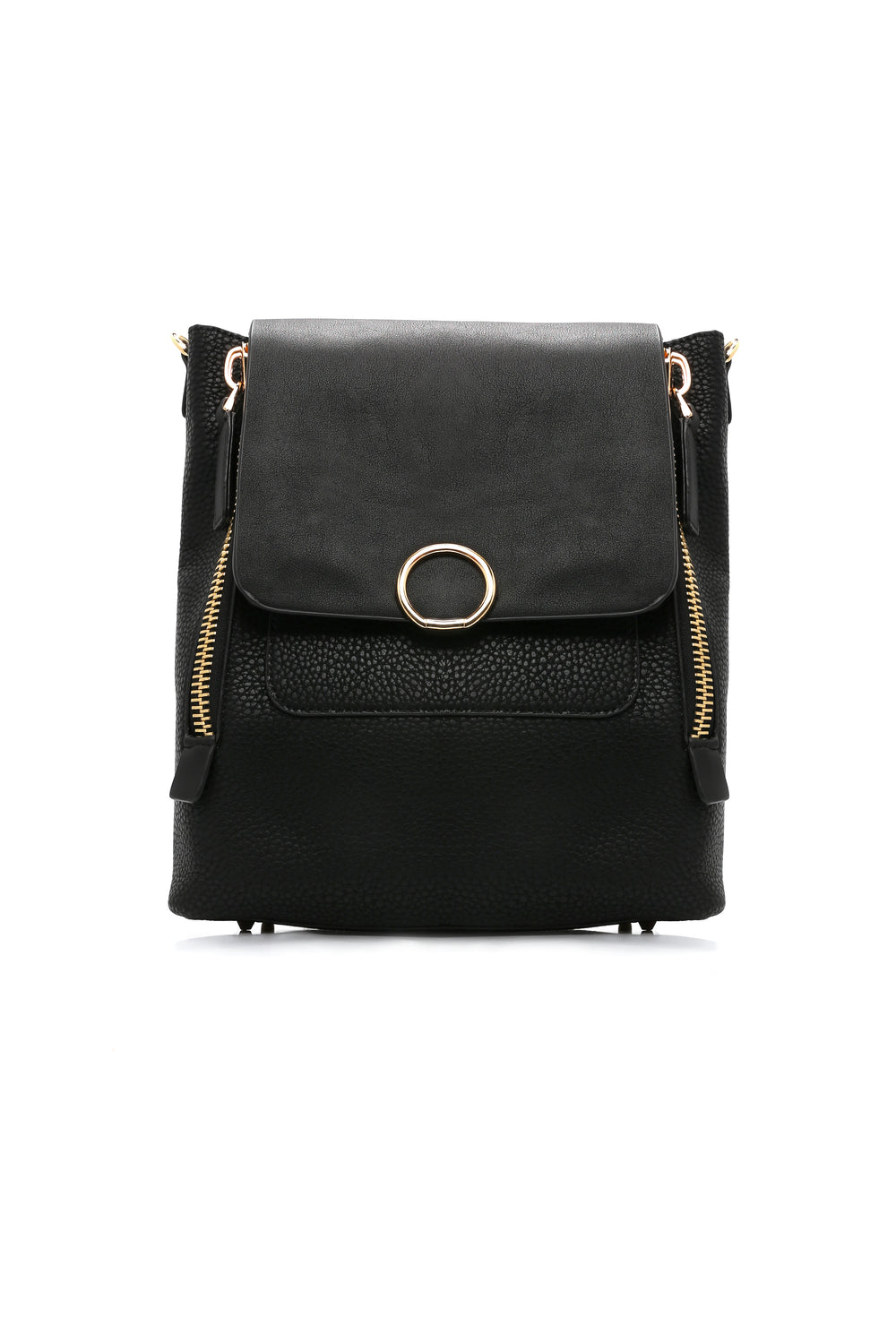 Kelsey Vegan Leather Bag - Black
