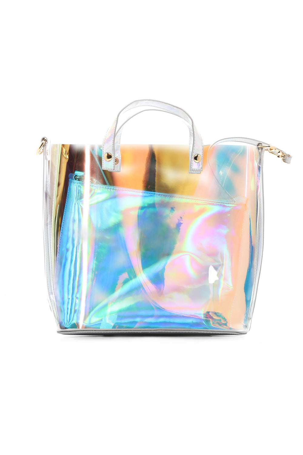 Vacation Time PVC Bag - Silver Multi
