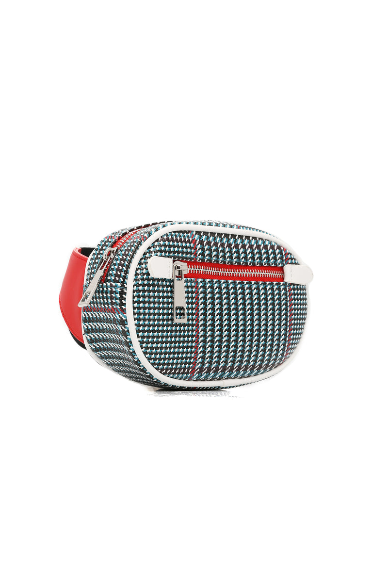 Stella Round Fanny Pack - Blue