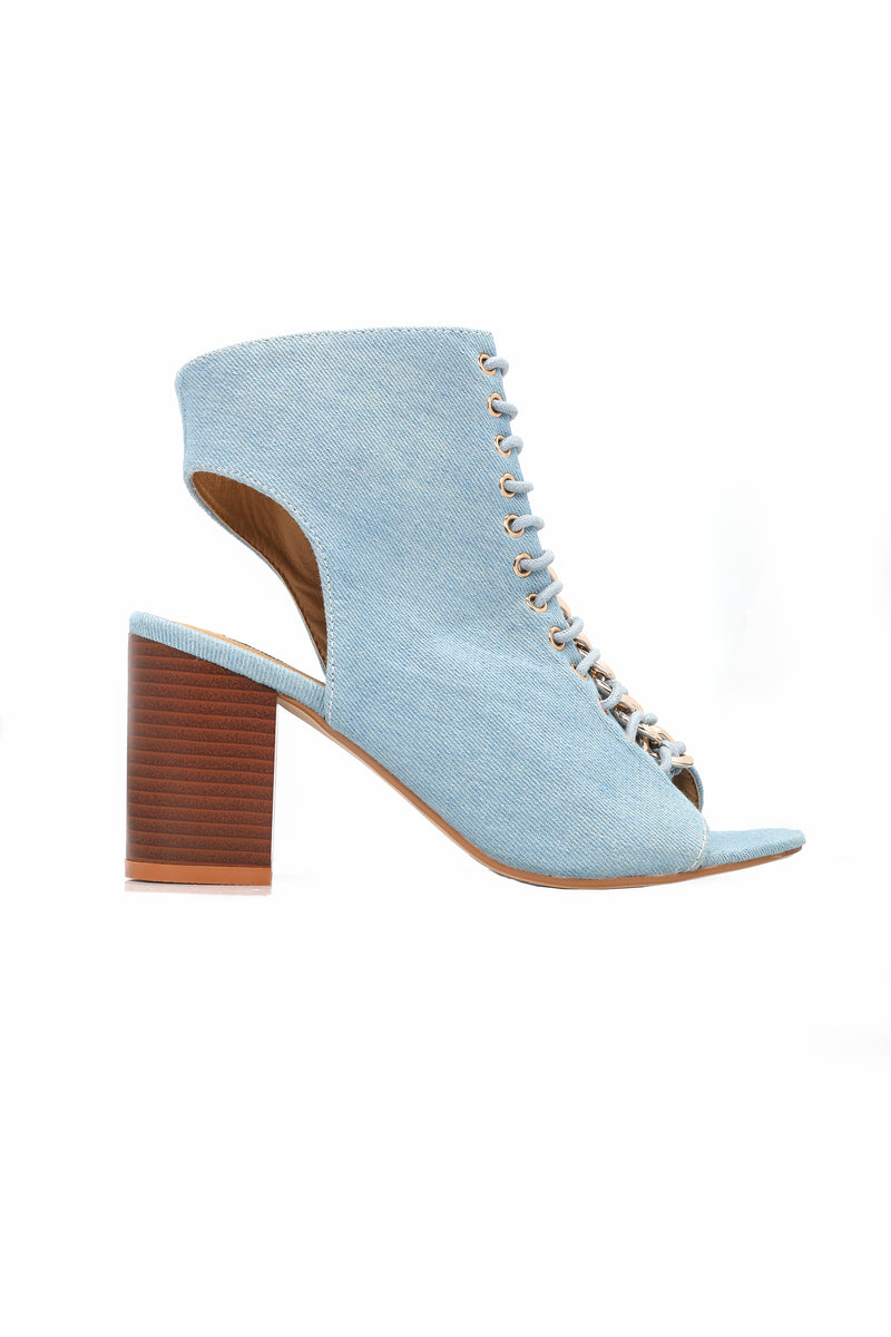 I Chose You Booties - Denim