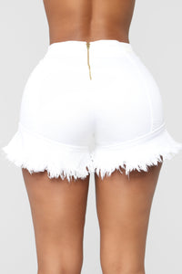 Just One Of Them Days High Rise Shorts - White