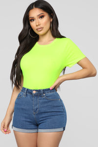 Don't Be Fooled Top - Neon Yellow Angle 1