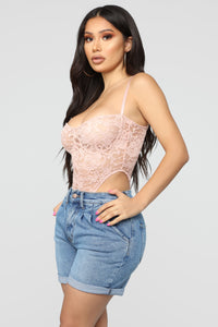 Not Over You Bodysuit - Mauve