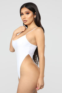 Hips Don't Lie Bodysuit - White Angle 1