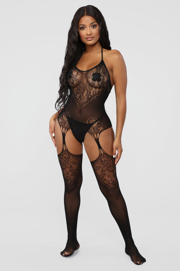 e9453c4aa9f The Main Dish Fishnet Body Stocking - Black