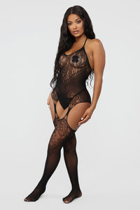 The Main Dish Fishnet Body Stocking - Black