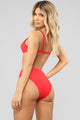 Check Me Out Underwire Bikini - Red