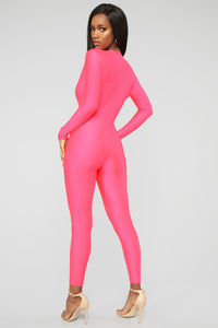 Jumpin' Into It Jumpsuit - Light Coral Angle 4