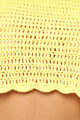 Yuma Crochet 2 Piece Sunsuit - Yellow