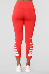Track Star Active Legging - Red