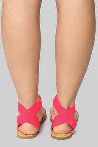 Undivided Attention Sandals - Neon Pink