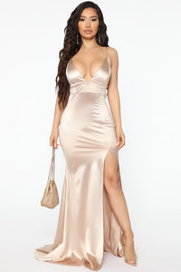 Look Behind Me Maxi Dress - Taupe Angle 1