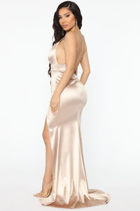 Look Behind Me Maxi Dress - Taupe Angle 3