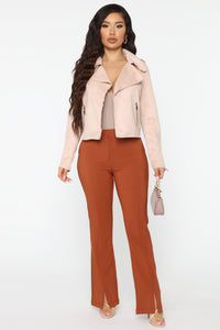 Suede My Way Jacket - Blush Angle 2