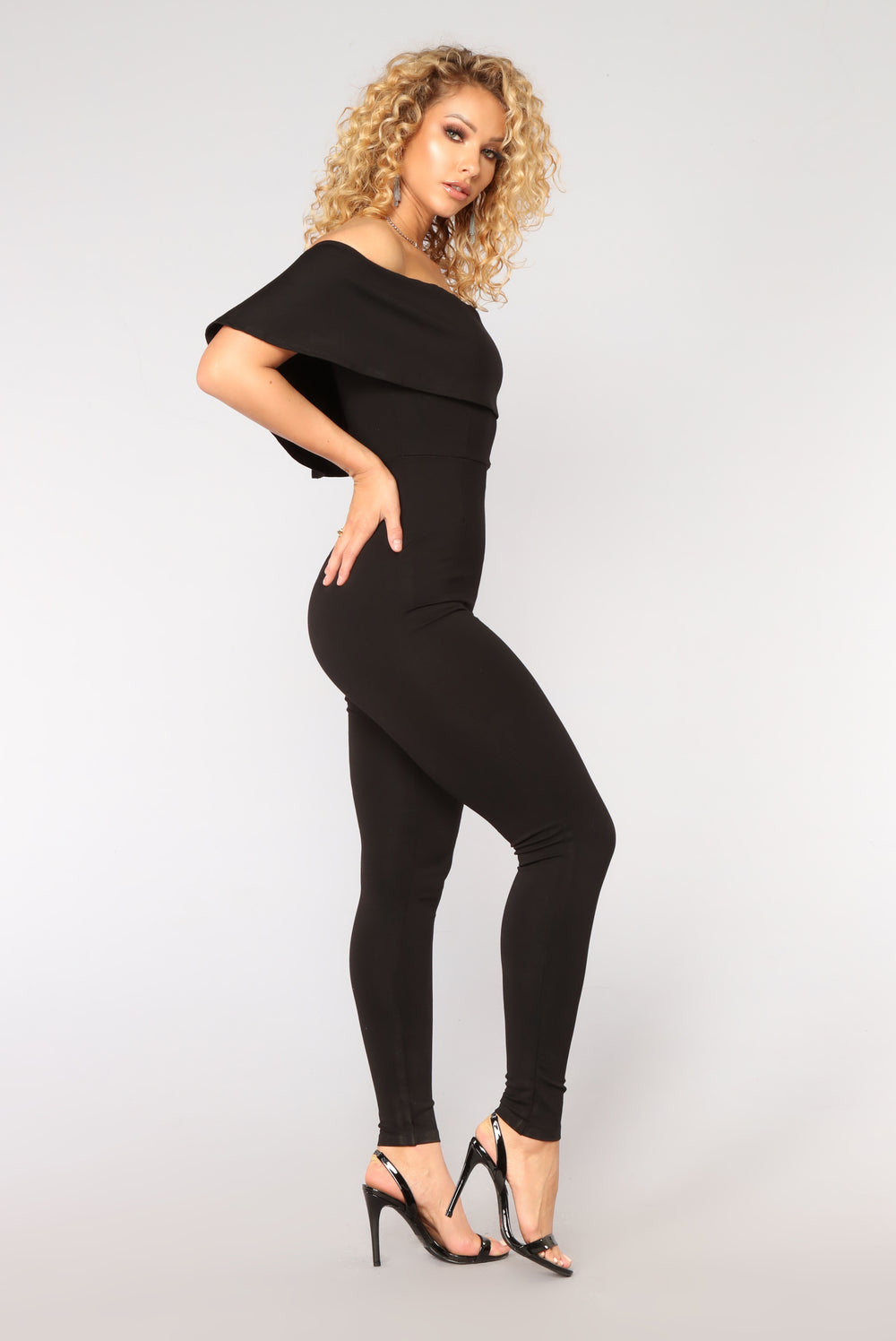 Announce Flounce Jumpsuit - Black