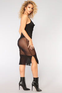 Plot Thickens Mesh Dress - Black