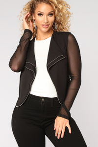 Think Quick Moto Jacket - Black