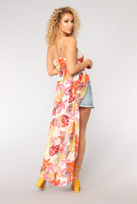 Vacation Spot Cover Up Dress - Ivory Multi