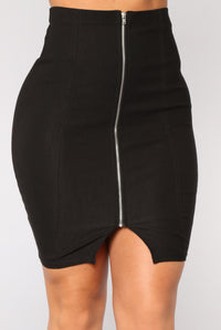 Keep It Zipped Skirt - Black
