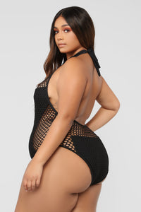 Caught In The Net Swimsuit - Black