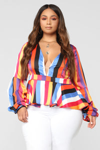 Give It To Me Straight Top - Multi Color
