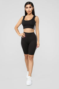Tennis Pro Short Set - Black Angle 4