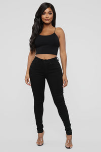 Time Of Your Life Skinny Jeans - Black Angle 1