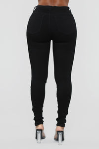 Time Of Your Life Skinny Jeans - Black Angle 6