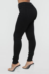 Time Of Your Life Skinny Jeans - Black Angle 4