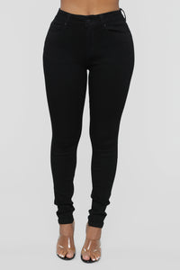 Time Of Your Life Skinny Jeans - Black Angle 2