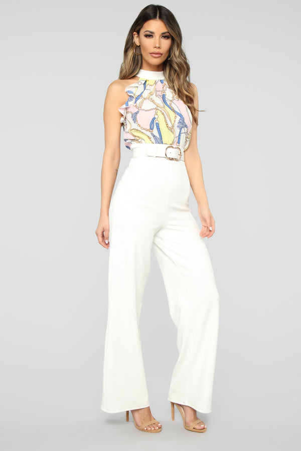 8a4101673c27 Ada Chain Jumpsuit - Ivory