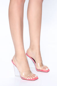 Always About Me Wedges - Neon Pink Angle 1