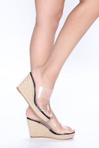 Treat Me Right Wedges - Black Angle 2