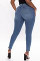 Franchesca High Rise Skinny Jeans - Medium Blue Wash