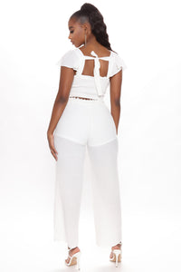 Come My Way Pant Set - Off White Angle 2