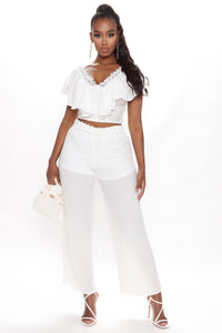 Come My Way Pant Set - Off White Angle 1
