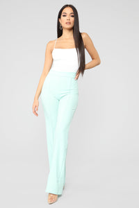 Victoria High Waisted Dress Pants - Mint