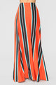 Pop That Striped Skirt Set - Orange Multi
