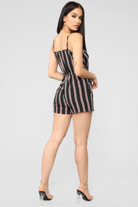 Catching Waves Romper - Black/Combo