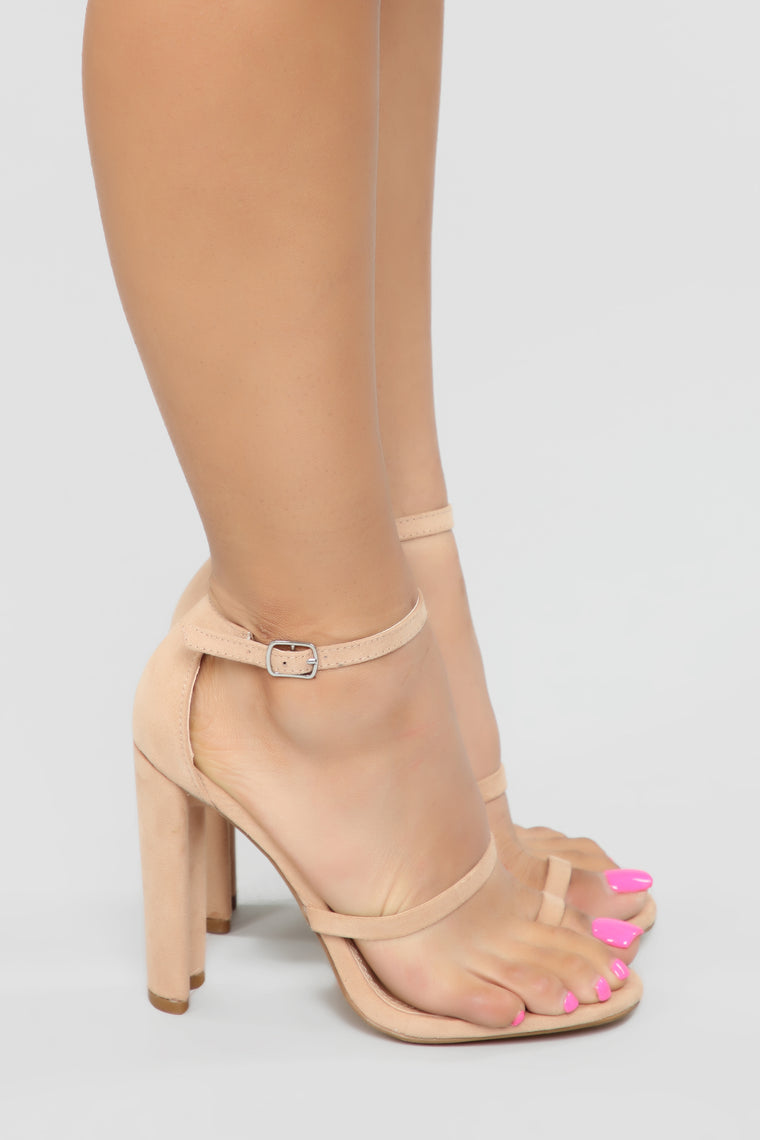 Bounce To The Ounce Heeled Sandals - Nude