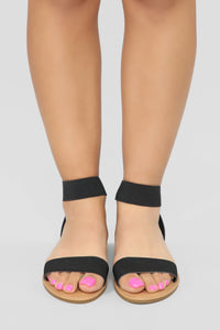 Undivided Attention Flat Sandals - Black Angle 2