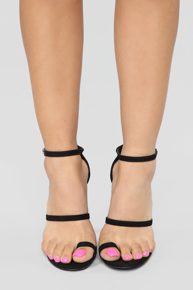 Bounce To The Ounce Heeled Sandals - Black