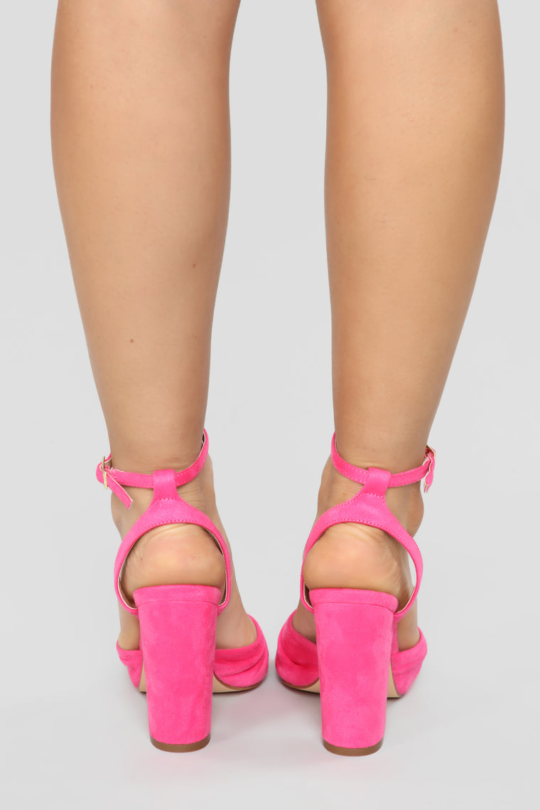 Owe Step Ahead Heeled Sandal - Fuchsia