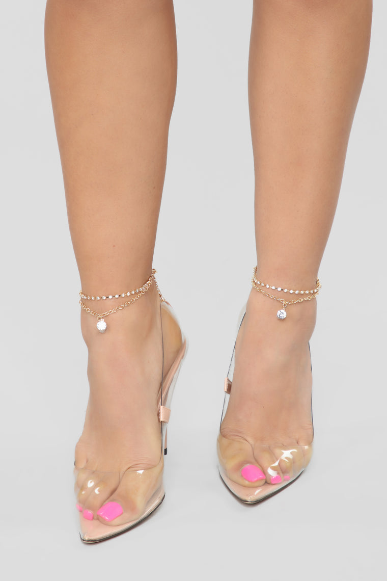 Diamond Girl Anklet   Gold by Fashion Nova