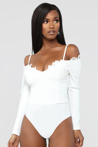 Looking Sweet Bodysuit - White Angle 1