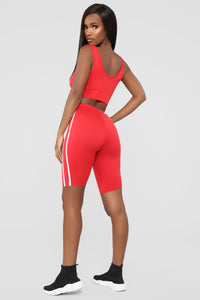 Tennis Pro Short Set - Red Angle 3